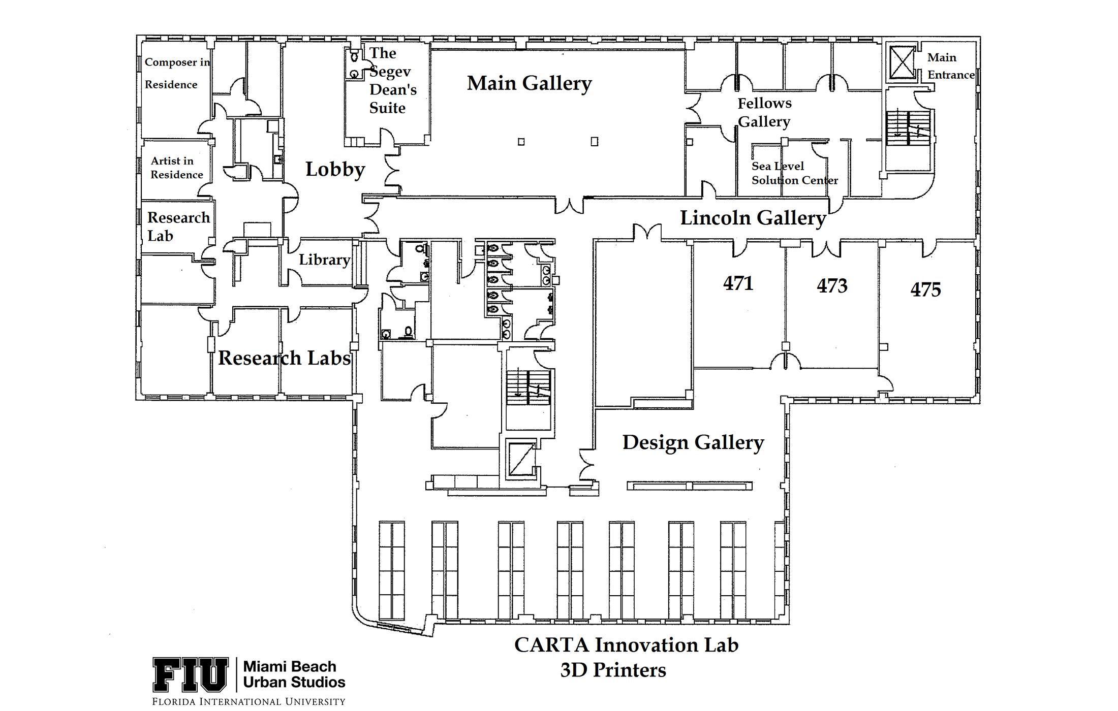 Lincoln Road BID Floor plan with Galleries