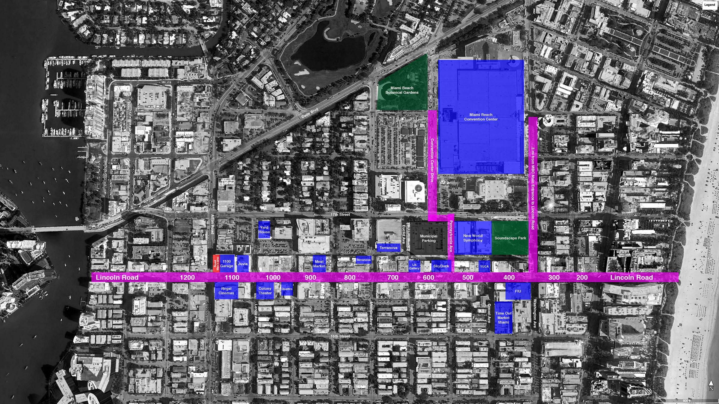 Lincoln Road BID map